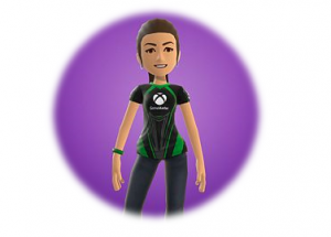 xbox avatar image of a women standing still and smiling
