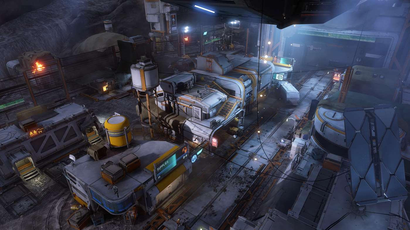 A Halo 5 Facility, viewed from above