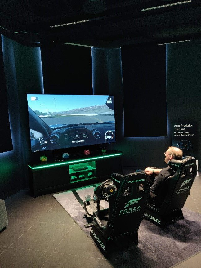 A shot of the Forza gaming stations