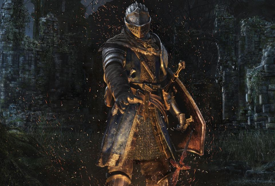 The cover art for dark souls prepare to die edition