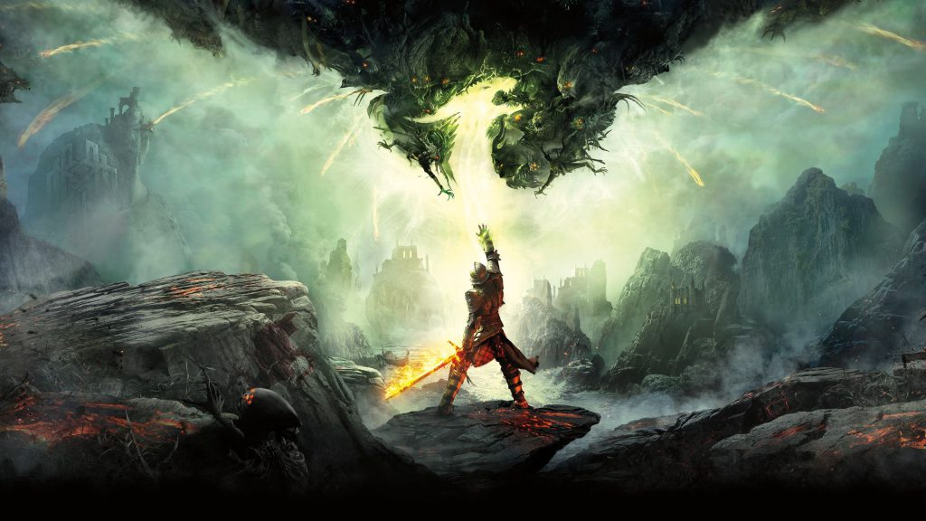The cover art for dragon age