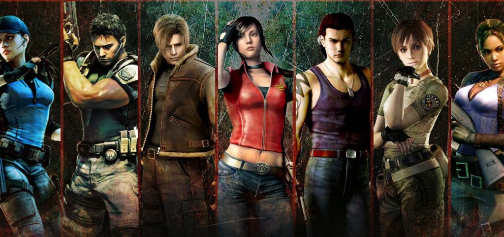 many characters from resident evil