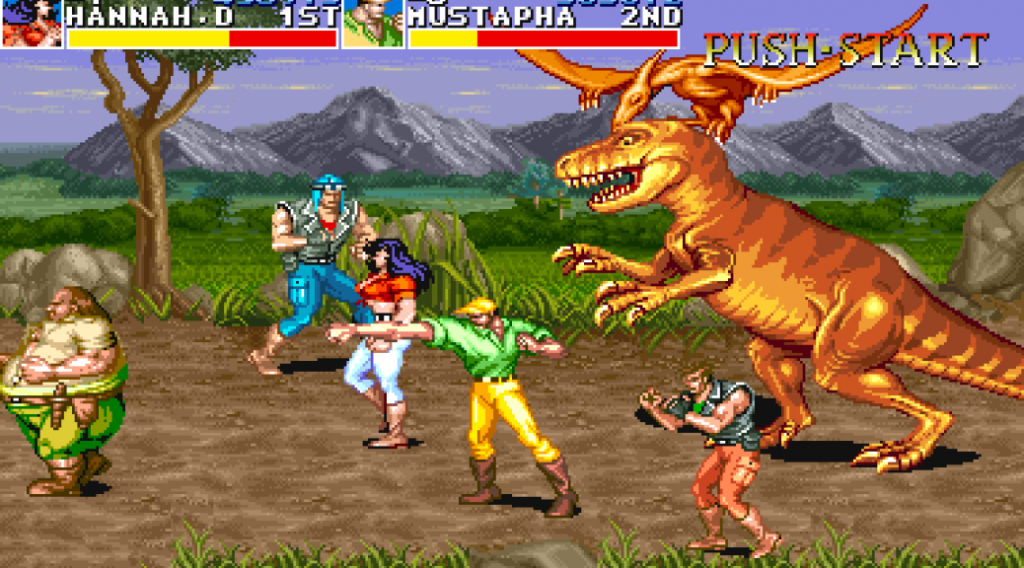 Screenshot from the video game Cadillacs and Dinosaurs