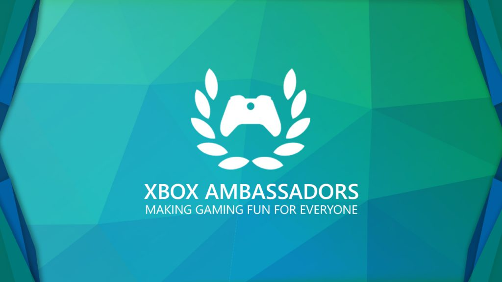Graphic of the Xbox Ambassadors Logo with the words Xbox Ambassadors Making Gaming Fun For Everone